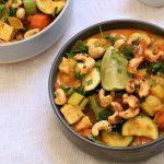 Curry de poulet à l'Indienne aux 4 légumes