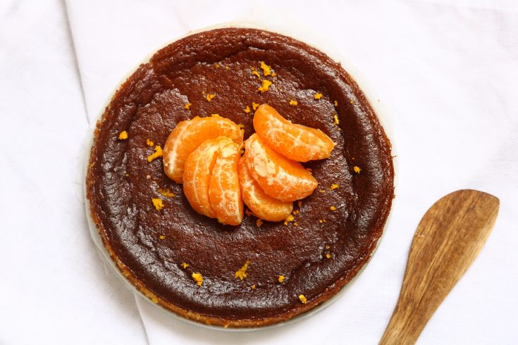 Gâteau de polenta, miel, orange et huile d'olive