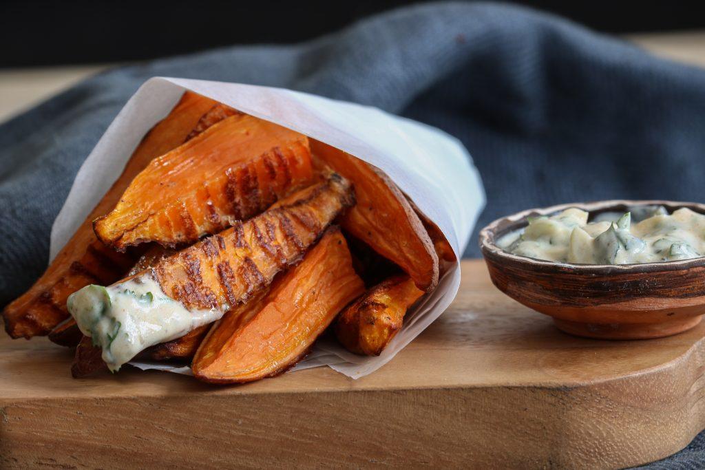 frites de patate douce croustillantes