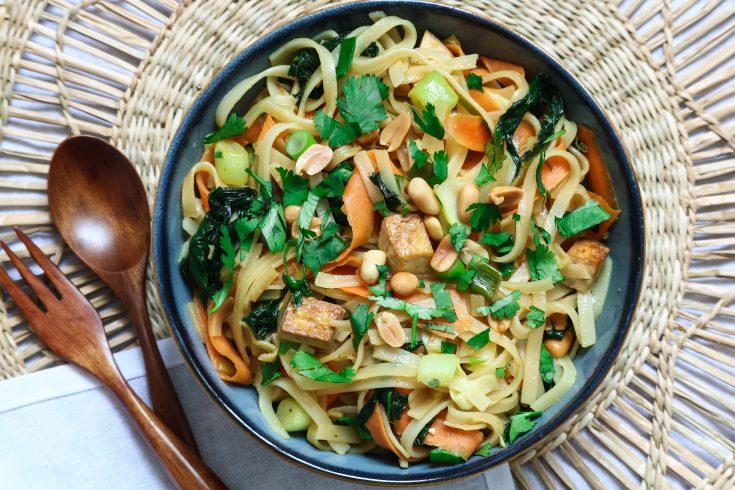 Pad thaï végétarien healthy