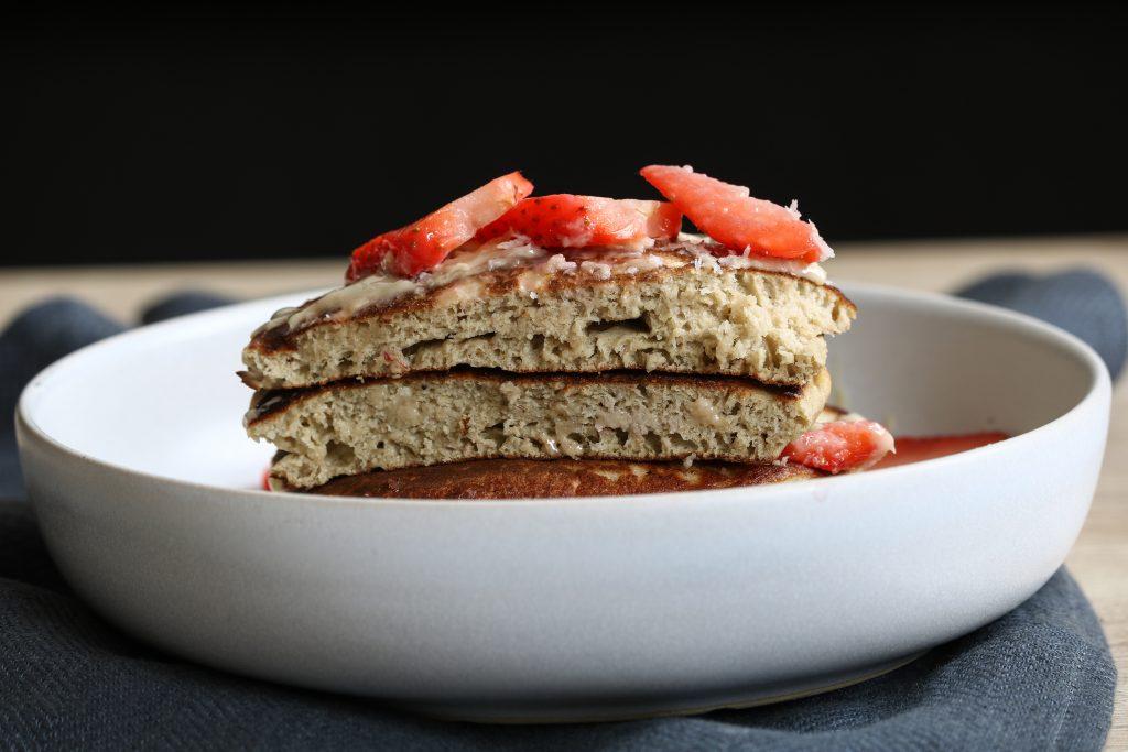 pancakes de quinoa et d'avoine