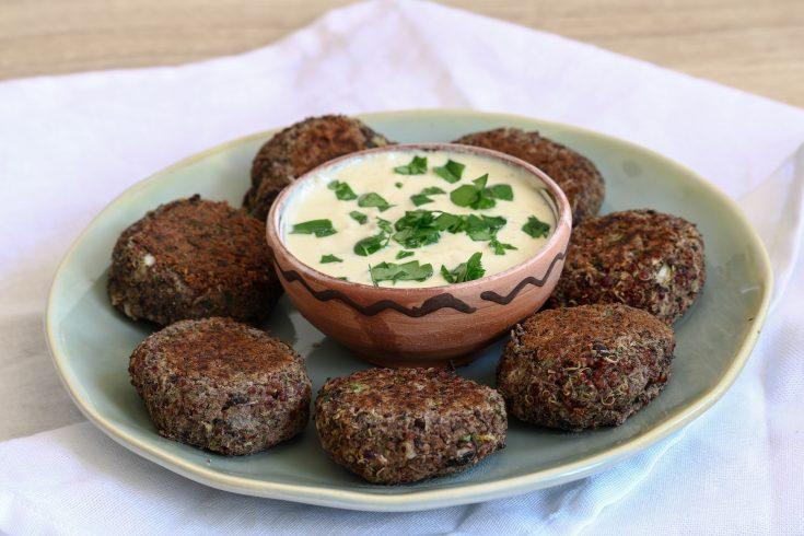Falafel de quinoa et de haricots rouges