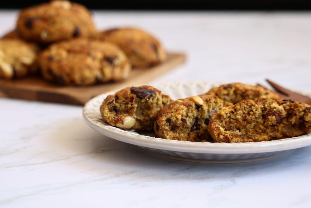 cookies à l'okara au chocolat