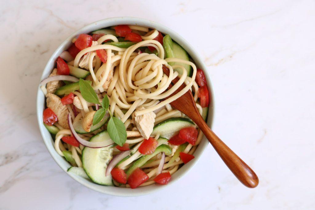 salade de nouilles diététique