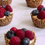 tartelettes saines et gourmandes aux fruits rouges