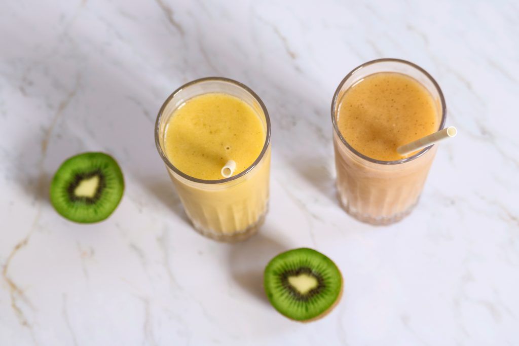 smoothie banane kiwi et orange
