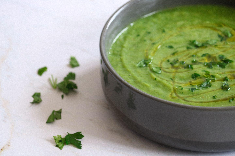 soupe verte de légumes